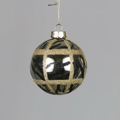Bombka czarna ze złotymi wzorami