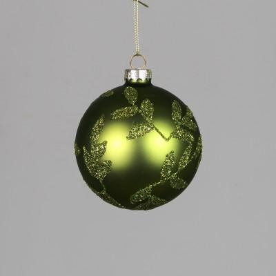 Bombka zielona z wzorami