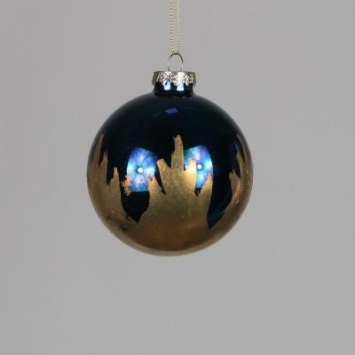 Bombka granatowa ze złotym wzorem