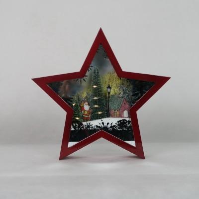 Świąteczna gwiazda czerwona