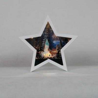 Świąteczna gwiazda biała