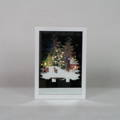 Świąteczna ramka biała