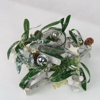 Stroik świąteczny na małą świeczkę