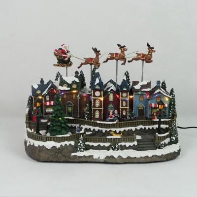 Pozytywka Św. Mikołaj i renifery
