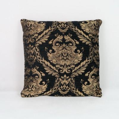 Poduszka czarna ze złotym wzorem