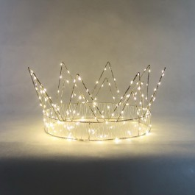Świecąca korona dekoracja