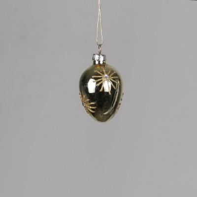 Mała bombka owalna złota